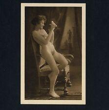 #13 VIENNA GIRL'S NUDE STUDY * Vintage 1920s PC Kilophot / AKT Nackt Erotik AK