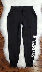 Victoria Secret PINK Jogger Sweatpants Women's Size Small Black /White