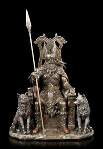Odin Figur - Germanischer Göttervater auf Thron - Veronese Nordische Gottheit