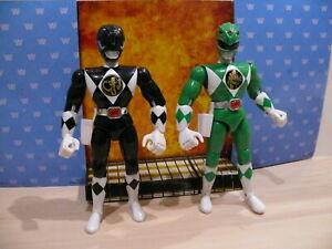 Original vintage Mighty Morphin Power Rangers 8 inch black Green ranger figures