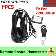 Remote control Flash Strobe Wiring Harness Switch Relay LED/HID Work Light Bar