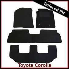 Toyota Corolla Verso Mk2 2004-2009 3-Rows Tailored Carpet Car Floor Mats BLACK
