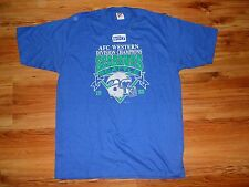 VINTAGE 1988 AFC WESTERN DIVISION CHAMPIONS SEATTLE SEAHAWKS T SHIRT NEW
