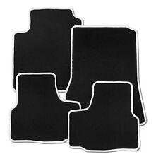Für Renault Captur Bj. 5.13 - 5.17 Fußmatten in Velours schwarz mit Rand weiß