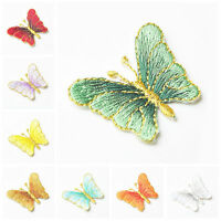 1PC Embroidery Butterfly Applique Sew Iron On Patch Badge Clothes Dress Hat DIY
