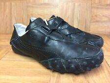 RARE🔥 Puma Driving Shoes Speed Cat Black Grain Leather Sneakers Sz 10 Men's