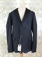 NWT Fred Mello Men's Blue Plaid Wool Italian Blazer Sport Coat L