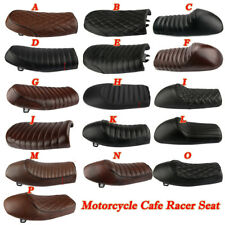 Motorcycle Cafe Racer Seat Flat Saddle For Honda GB Suzuki Kawasaki Yamaha XJ