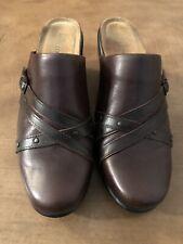 Naot Black Leather Slip-on Mules/Slides  Criss Cross Womens Size 38