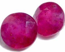 Natural hermoso Piedras Preciosas Sueltas Rubí Rojo (Par/6.0 mm) de forma redonda