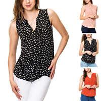 Vero Moda Damen Blusentop Hemdbluse Sommerbluse Bluse Ohne Arm Shirt Tunika