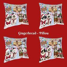 Christmas Gingerbread Cookie Dog Cat Pet Photo Throw Decorative Pillow