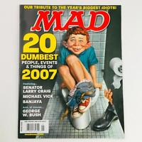 Mad Magazine January 2008 No. 485 20 Dumbest People of 2007 Very Fine VF 8.0