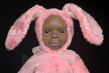 "OOAK Artist Clay Rabbit Baby Girl Teddy Doll ""Easter Bunny"" by Dolls from Aileen"