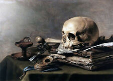 Vanitas Still Life by Pieter Claesz, Oil Painting Art Reproduction on Canvas