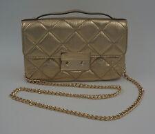 Michael Kors Tasche Sloan Chain QUILITED Messenger Bag, Leder, Gold, NEU