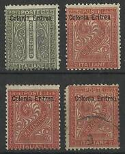 ERITREA 1893 1c,2c MINT / USED