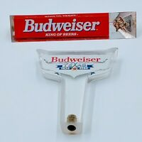 VINTAGE LOT OF 2 BEER TAP HANDLES  BUDWEISER MILLER BEER. Pre-owned