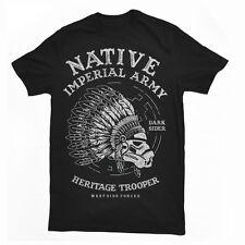 NAITIVE FIGHTER skull imperial indian westside forces mashup tshirt tee dtg