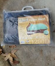 "Tough 1  1200 Denier Horse Sheet 81"" Navy Blue"