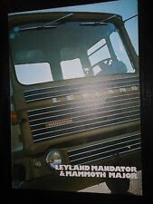 Prospetto SALES BROCHURE British Leyland Mandator MAMMOTH MAJOR CAMION TRUCK CAMION