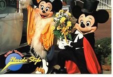 Mickey Mouse-Minnie-Night Out in Style-Fancy Clothes-Florida-Disney Postcard