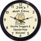Man Cave Wall Clock Custom Personalized Garage Game Room Beer Pub Den Tavern