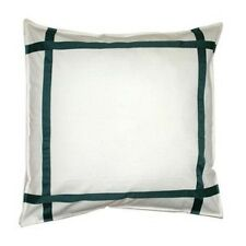 Liz Claiborne BLYTHE Ivory white green teal Euro European Pillow Shams Set 2 new