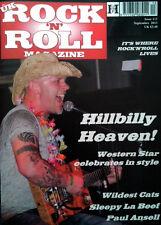 UK ROCK MAGAZINE Issue 113 September 2013 Rockabilly Paul Ansell Sleepy LaBeef