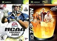 NCAA Football 2005 / Top Spin Combo Microsoft Xbox Game With NCAA Manual Tested