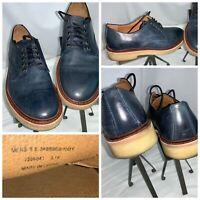 """Frye """"Roy"""" Oxford Lace Shoes Sz 8.5 Men Blue Leather Gum Rubber Mint YGI K0S-26"""
