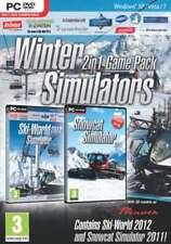 Winter Simulators 2 in 1 Pack - Ski World 2012 & Snowcat Simulator - New/Sealed