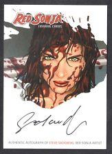 RED SONJA (BREYGENT 2012) SDCC EXCLUSIVE AUTOGRAPH CARD #RSA-JJC J.G. JONES