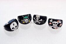 Wholesale Lots jewelry 20pcs Skull Black Resin Lucite Children/Kid Rings FREE