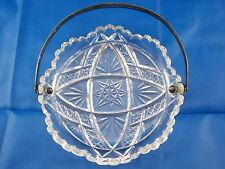 Wunderschöne Kristallglas Schale mit 800 Silber Henkel WTB Konfektschale