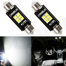2PCS 41mm Super White 6-SMD 3020 LED CANBUS DOME MAP Interior Light 578 211-2