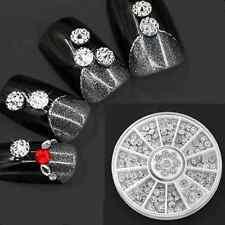 4mm glitter bead Acrylic Studs Nail Art Stickers DIY Tips Rhinestone Decor Wheel