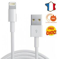 Cable Lightning Chargeur pour Apple Iphone X 8 7 6 6S 5C 5S SE Ipad Ipod - 1M