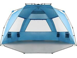 Falnex Beach Tent Sun Shelter Pop Up Easy Setup Shade 2 - 4 Person Extended New