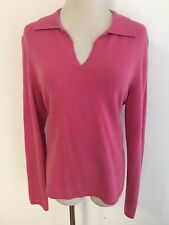 MACY'S Charter Club Collared Sweater Pink Size L