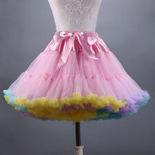 Tutu Skirt petticoat Fluffy Ballet Party Pettiskirt Women Dancewear Skirt Dress