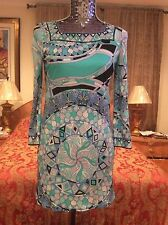 ICONIC RECENT GORGEOUS COLORFUL Emilio Pucci Signature Print Tunic Dress top