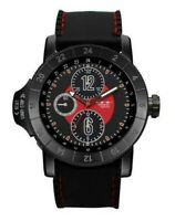 Men Fashion Watch Milano MC46951 Black Silicone Band Black Case Water Resistant