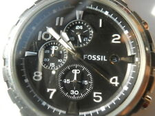 Fossil chronograph men's white rubber band quartz,Analog& battery watch.Fs-4613