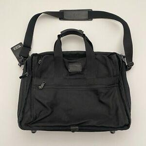 TUMI ALPHA 2 Limited Edition Messenger Bag Black Canvas Laptop Crossbody