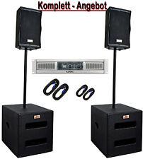 DJ PA Musikanlage BANDANLAGE komplett ANLAGE 5600 WATT max. Subwoofer + Endstufe