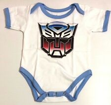 NEW Baby TRANSFORMERS One Piece Top Costume Onesies Fans Jumper Sizes 0-18 m.o.