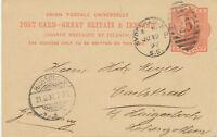 "GB 1897 QV 1d orangered postcard LONDON Duplex ""SYDENHAM-S.O. / S.E. / 25"""
