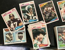 1982 1983 1984  TOPPS FOOTBALL CARD LOT OF ABOUT 123 CARDS NICE