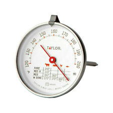 "Taylor 5939N Round Dial Stainless Steel 5-1/2"" Long Meat Thermometer"